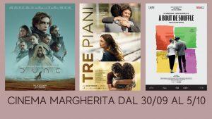 Programmazione Cinema MARGHERITA- Cupra Marittimadal 30/09 al 5/10